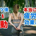 【コントレ】スポーツ後の軽い運動に疲労回復効果はあるのか?#194