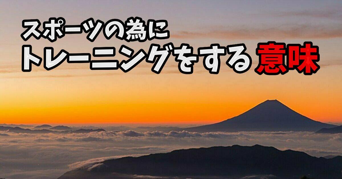 日本人アスリートのトレーニングを見て思う「伸び代」#259