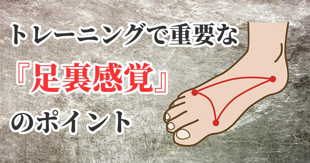 トレーニングに必要な足裏感覚【足裏の使い方】#286